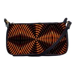 Fractal Pattern Of Fire Color Shoulder Clutch Bags