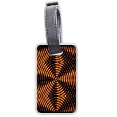 Fractal Pattern Of Fire Color Luggage Tags (two Sides)