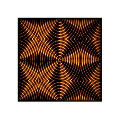 Fractal Pattern Of Fire Color Acrylic Tangram Puzzle (4  x 4 )