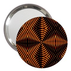 Fractal Pattern Of Fire Color 3  Handbag Mirrors