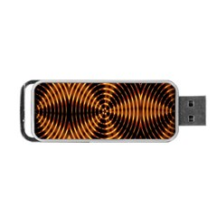 Fractal Pattern Of Fire Color Portable USB Flash (Two Sides)