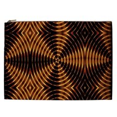 Fractal Pattern Of Fire Color Cosmetic Bag (XXL)