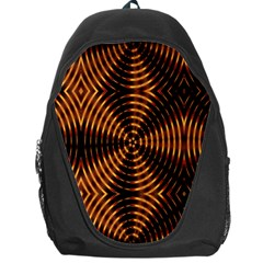 Fractal Pattern Of Fire Color Backpack Bag