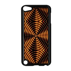 Fractal Pattern Of Fire Color Apple iPod Touch 5 Case (Black)