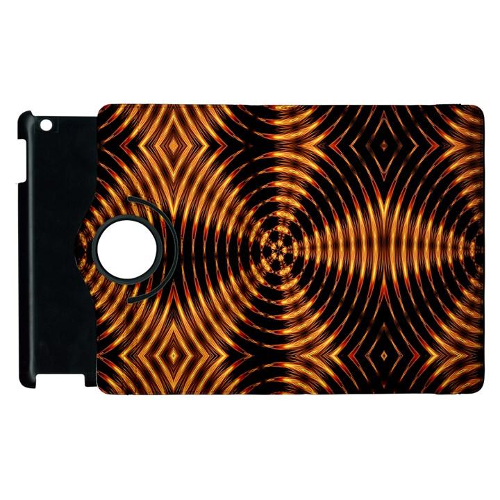 Fractal Pattern Of Fire Color Apple iPad 3/4 Flip 360 Case