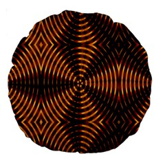 Fractal Pattern Of Fire Color Large 18  Premium Round Cushions