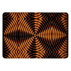 Fractal Pattern Of Fire Color Samsung Galaxy Tab 8 9  P7300 Flip Case