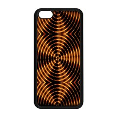 Fractal Pattern Of Fire Color Apple Iphone 5c Seamless Case (black)