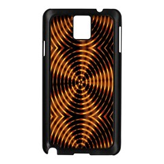 Fractal Pattern Of Fire Color Samsung Galaxy Note 3 N9005 Case (Black)