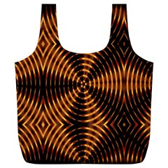 Fractal Pattern Of Fire Color Full Print Recycle Bags (L)