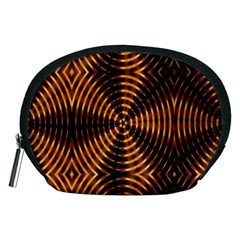 Fractal Pattern Of Fire Color Accessory Pouches (Medium)