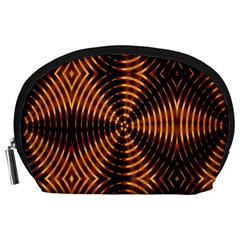 Fractal Pattern Of Fire Color Accessory Pouches (Large)
