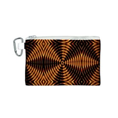 Fractal Pattern Of Fire Color Canvas Cosmetic Bag (S)