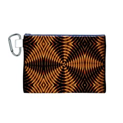 Fractal Pattern Of Fire Color Canvas Cosmetic Bag (m)