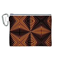 Fractal Pattern Of Fire Color Canvas Cosmetic Bag (L)