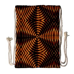 Fractal Pattern Of Fire Color Drawstring Bag (large)