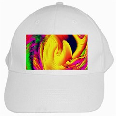 Stormy Yellow Wave Abstract Paintwork White Cap