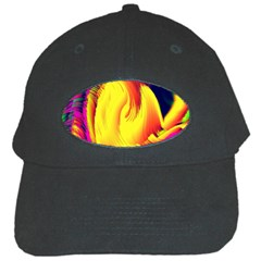 Stormy Yellow Wave Abstract Paintwork Black Cap
