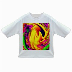 Stormy Yellow Wave Abstract Paintwork Infant/toddler T Shirts