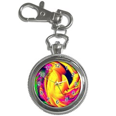 Stormy Yellow Wave Abstract Paintwork Key Chain Watches