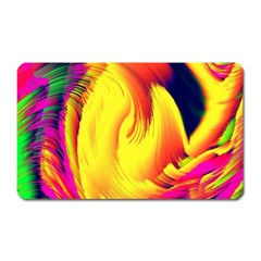 Stormy Yellow Wave Abstract Paintwork Magnet (Rectangular)