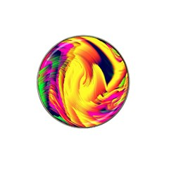 Stormy Yellow Wave Abstract Paintwork Hat Clip Ball Marker (10 pack)