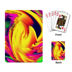 Stormy Yellow Wave Abstract Paintwork Playing Card