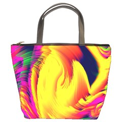 Stormy Yellow Wave Abstract Paintwork Bucket Bags