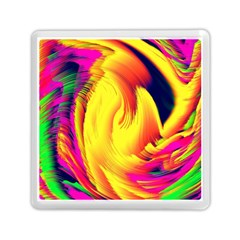 Stormy Yellow Wave Abstract Paintwork Memory Card Reader (square)