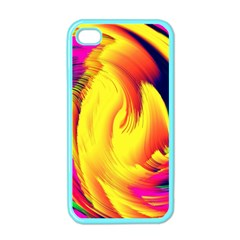 Stormy Yellow Wave Abstract Paintwork Apple iPhone 4 Case (Color)