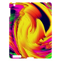 Stormy Yellow Wave Abstract Paintwork Apple iPad 3/4 Hardshell Case