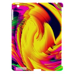 Stormy Yellow Wave Abstract Paintwork Apple iPad 3/4 Hardshell Case (Compatible with Smart Cover)