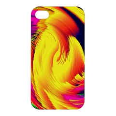 Stormy Yellow Wave Abstract Paintwork Apple iPhone 4/4S Premium Hardshell Case