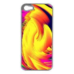 Stormy Yellow Wave Abstract Paintwork Apple iPhone 5 Case (Silver)