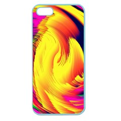 Stormy Yellow Wave Abstract Paintwork Apple Seamless iPhone 5 Case (Color)