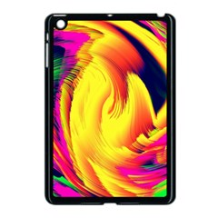Stormy Yellow Wave Abstract Paintwork Apple iPad Mini Case (Black)
