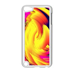 Stormy Yellow Wave Abstract Paintwork Apple iPod Touch 5 Case (White)