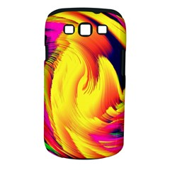 Stormy Yellow Wave Abstract Paintwork Samsung Galaxy S Iii Classic Hardshell Case (pc+silicone)
