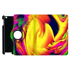 Stormy Yellow Wave Abstract Paintwork Apple iPad 3/4 Flip 360 Case