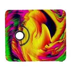 Stormy Yellow Wave Abstract Paintwork Galaxy S3 (Flip/Folio)