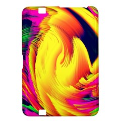 Stormy Yellow Wave Abstract Paintwork Kindle Fire HD 8.9