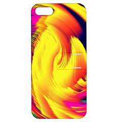Stormy Yellow Wave Abstract Paintwork Apple Iphone 5 Hardshell Case With Stand