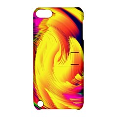 Stormy Yellow Wave Abstract Paintwork Apple iPod Touch 5 Hardshell Case with Stand