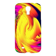 Stormy Yellow Wave Abstract Paintwork Samsung Galaxy S4 I9500/i9505 Hardshell Case