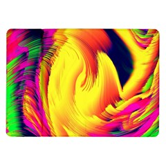 Stormy Yellow Wave Abstract Paintwork Samsung Galaxy Tab 10.1  P7500 Flip Case