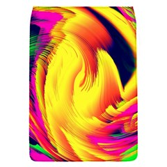 Stormy Yellow Wave Abstract Paintwork Flap Covers (S)