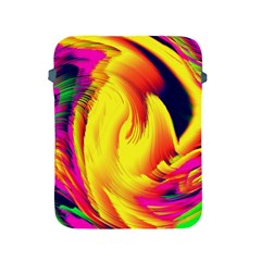 Stormy Yellow Wave Abstract Paintwork Apple iPad 2/3/4 Protective Soft Cases