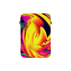 Stormy Yellow Wave Abstract Paintwork Apple Ipad Mini Protective Soft Cases