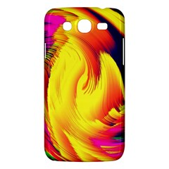 Stormy Yellow Wave Abstract Paintwork Samsung Galaxy Mega 5.8 I9152 Hardshell Case