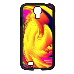 Stormy Yellow Wave Abstract Paintwork Samsung Galaxy S4 I9500/ I9505 Case (Black)